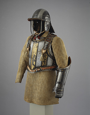 Soldiers and gunners wore armor more like this.  Heavy breastplate and helmet.  Hey, didn't I just talk about that?  Hmmm...I wonder.