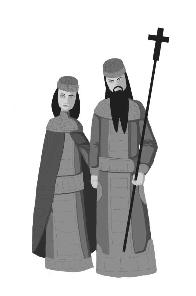 Oh, yes, Zach did draw this. Andronikos and his first wife, Anna.