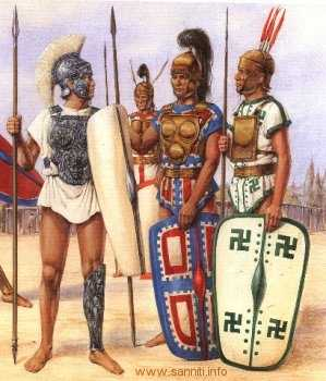 """They had a long way to go until they understood """"style.""""  They copied the Samnites a great deal who taught the Romans how to fight.  This was mixed with Classic Greek Phalanx type of formations."""