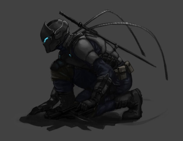 "A numidia ""Shadow Warrior"" in his Atlantean stealth suit."