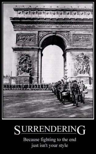 The French people didn't try to fight back because they didn't want to risk anything. Safety was worth more than freedom and it ended up costing them heavily. It cost them their honor and their souls.