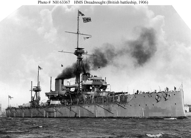 HMS. Dreadnaught, the first of its class that launched a complete change in the way things were done. Kind of like Led Zeppelin.