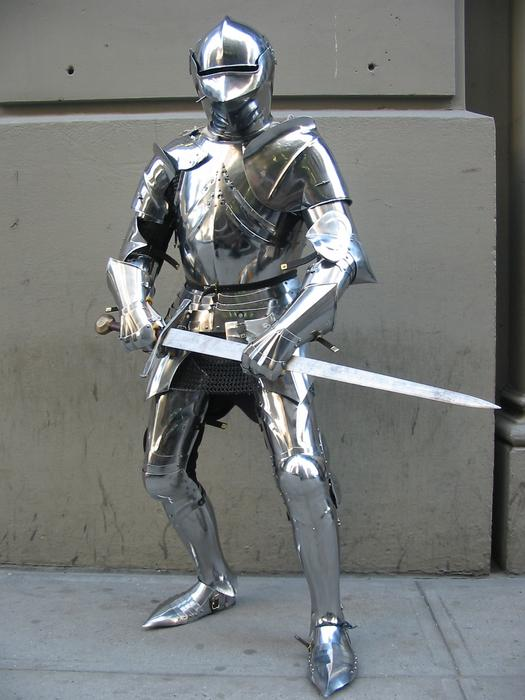 This is a man who's trained since he was a child in the art of fighting. He's wearing the best armor possible and he's ready for you. Your pluck and dagger won't be enough.