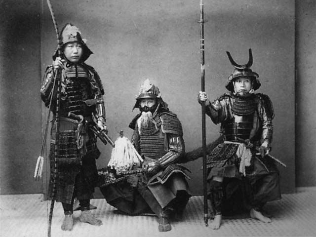 Three dudes you do not want to mess with. Each one will explode on you with a flash of yelling and sharp steel. These were men that did not take warfare lightly.