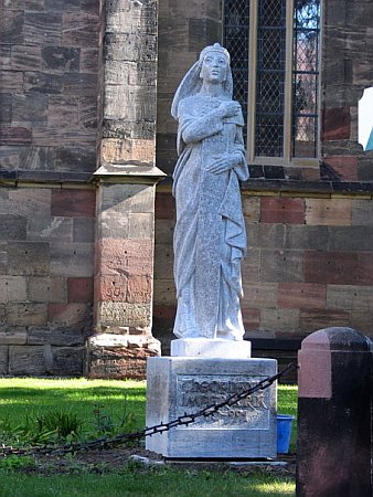 Here's a statue of her in Germany where she's buried. So, the German dynasty has a Byzantine princess to thank for their stable continuance.  Didn't teach that in school, did they?