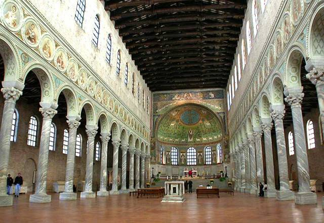Here's a church he built covered in gorgeous mosaics. He actually led somewhat of a Golden Age in Italy and everyone kind of liked him.
