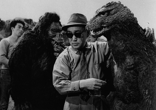 Possibly the greatest job in the universe, making giant monster movies.