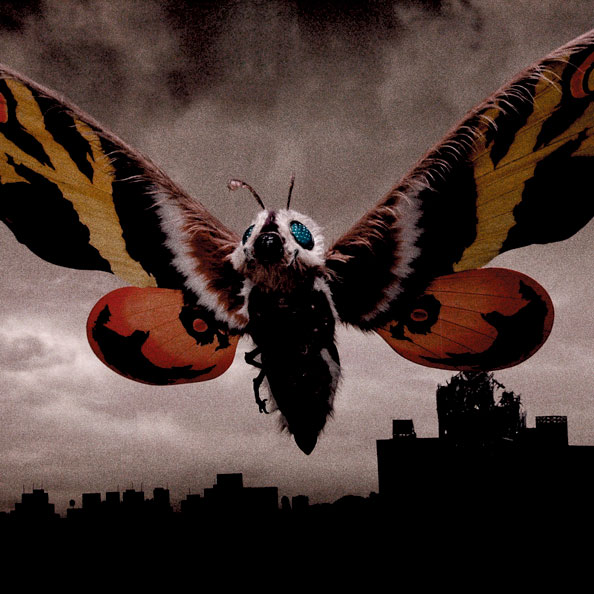 Mothra, a monster that's very popular among women in Japan.  One of Godzilla's sometimes allies.