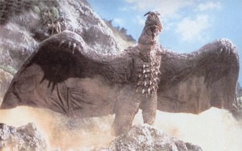 Rodan, a flying monster that helps Godzilla against Ghidorah.
