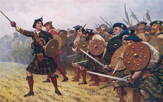 A bunch of royally pissed off Scotts went out to battle with misplaced faith in their leader.